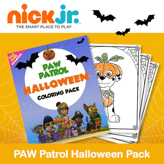 Printable PAW Patrol Halloween Coloring Pack , Jinxy Kids