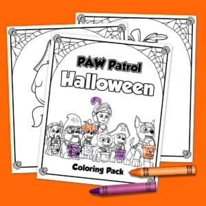 Printable PAW Patrol Halloween Coloring Pack