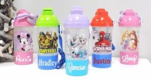 Adorable Personalized Water Bottles and Snack Container only $6.99!