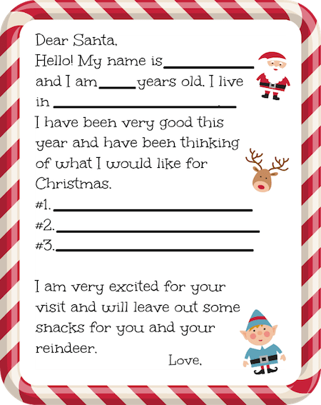 For a fun holiday project we have this Free Printable Santa Letter that makes it easy for little ones to fill in the blanks and send it off to the North Pole before Christmas!