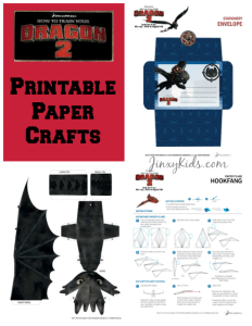How to Train Your Dragon 2 Printable Paper Crafts + Reader Giveaway