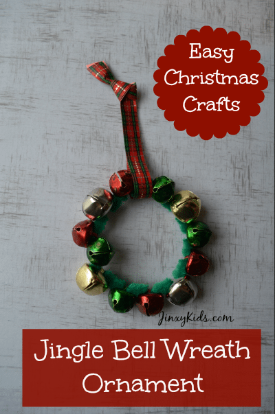 Jingle Bell Wreath Ornament Easy Craft