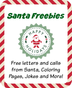 Santa Freebies for Kids: Letters and Calls, Jokes, Coloring Pages and MORE!