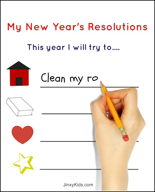 Free Printable New Years Resolutions Activity Sheet For Kids