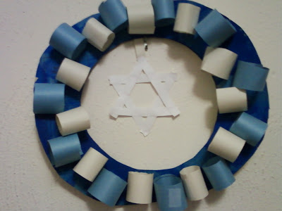 hanukkah wreath craft