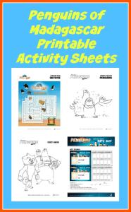Penguins of Madagascar Printable Activity Sheets + Reader Giveaway