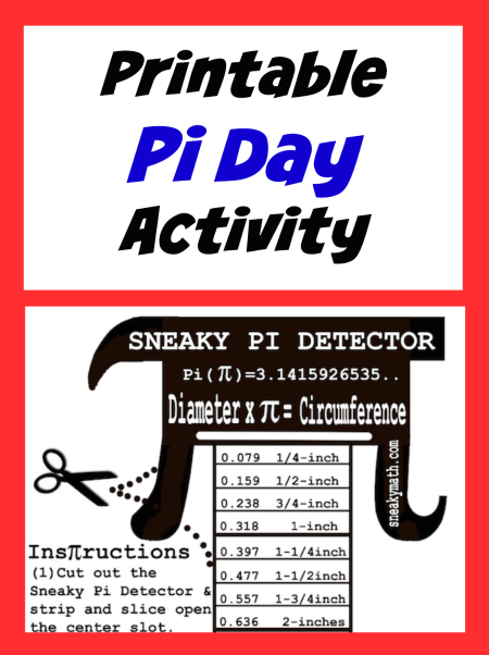Pi Day Printable Activity