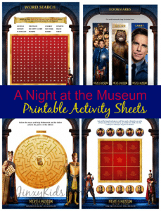 A Night at the Museum Printable Activity Sheets + Secret of the Tomb Giveaway