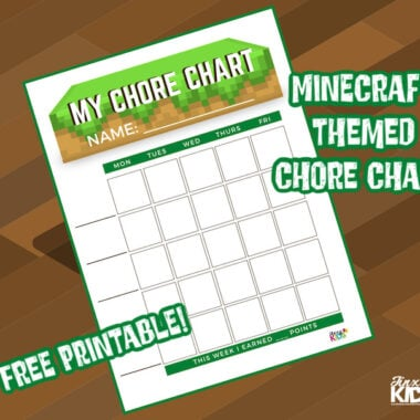 Free Printable Minecraft Themed Chore Chart