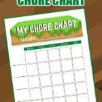 Minecraft Printable Chore Chart