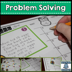 FREE Easter SCOOT Problem Solving Set