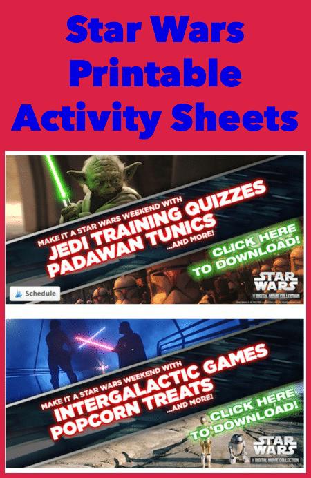 Star Wars Activity Sheets Printables