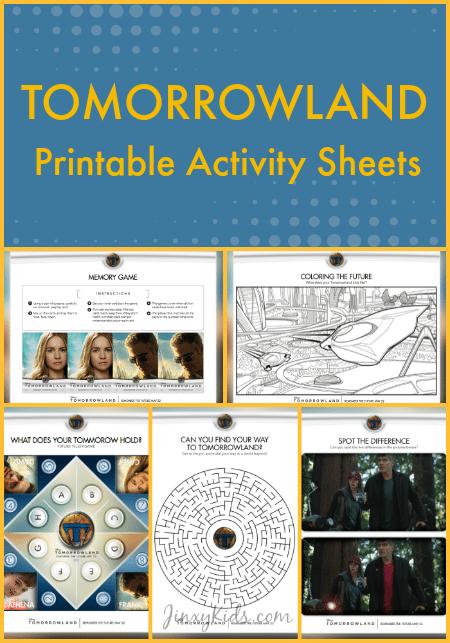 Tomorrowland Printable Activity Sheets