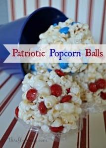 Patriotic Popcorn Balls Recipe for 4th of July Fun!