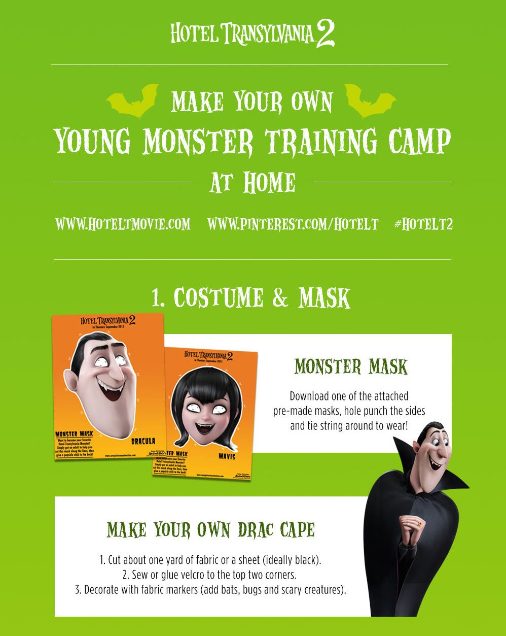 HOTEL TRANSYLVANIA 2 Young Monster Training Camp Costume