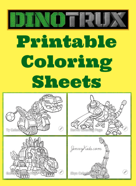 Printable Dinotrux Coloring Pages on free cars 3 coloring sheets