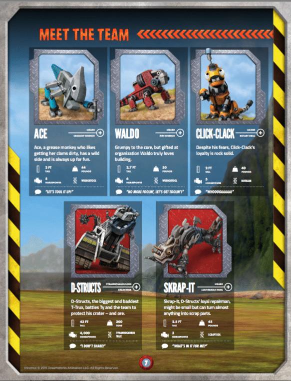Vaak Dinotrux Character Guide - Jinxy Kids IZ69