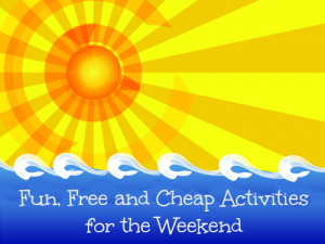 Free Fun Family Activities this Weekend
