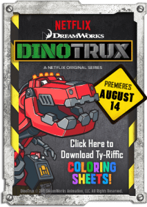 Dinotrux Printable Activity Sheets – Series on Netflix Now!!