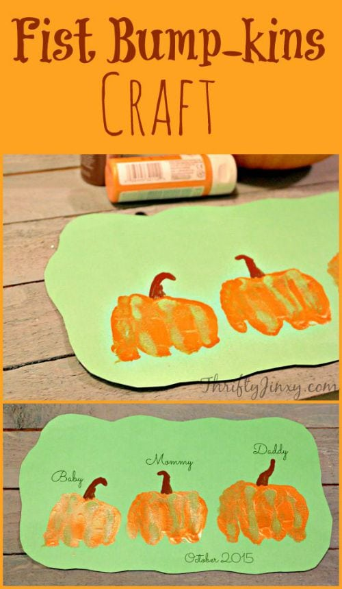 Fist BumpKins Pumpkin Craft on Pinterest