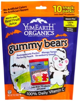 YumEarth Organics Gummy Bears halloween