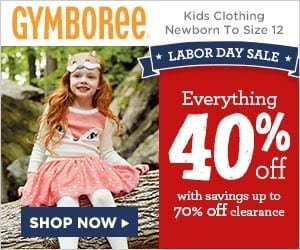 Shop Gymboree's Labor Day Sale & Score 40% Off Everything + Up to 70% Off Clearance!