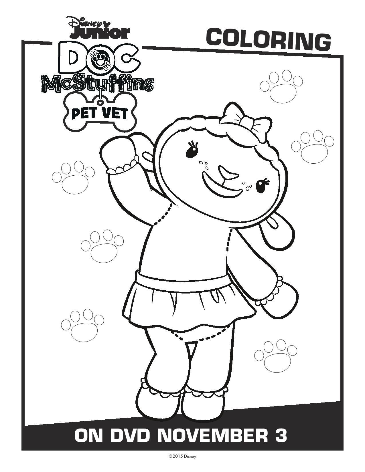 Printable coloring pages doc mcstuffins - Doc Mcstuffins Pet Vet Printable Activity Sheets Dvd Reader Giveaway