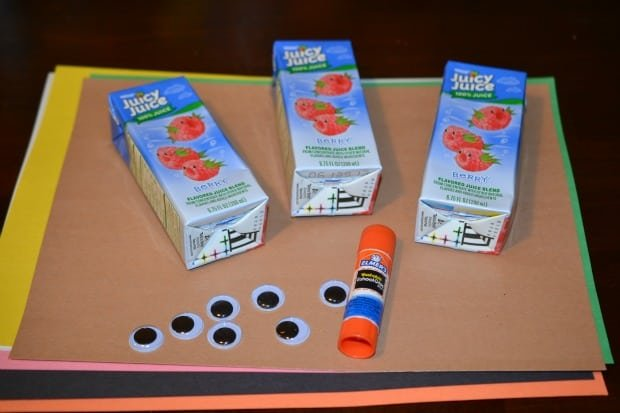 Turkey Juice Box Craft for Thanksgiving Supplies