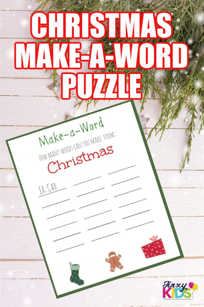 Christmas Make-a-Word Puzzle