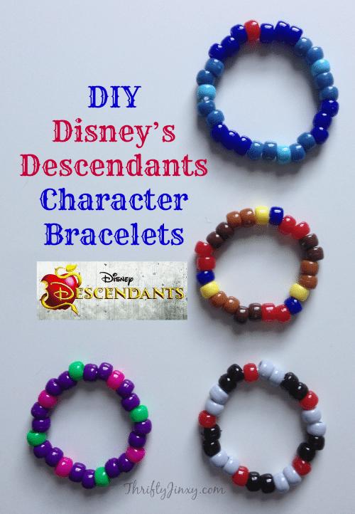 Disneys Descendants Character Bracelets Craft Jinxy Kids