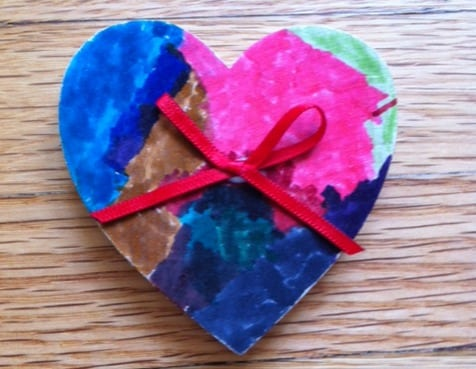 Valentine Heart Wood Craft