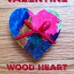Wood Valentine Heart Craft
