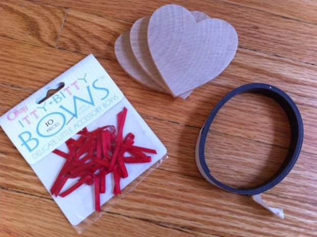 Wooden Valentine Heart Craft Supplies