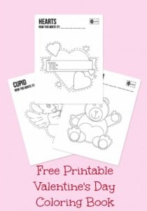 Free Printable Valentine's Day Coloring Book