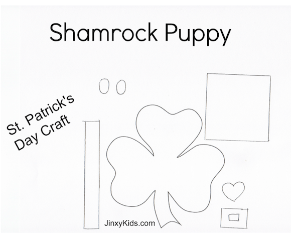 Shamrock Puppy Pattern