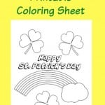 St. Patrick's Day Printable Coloring Sheet
