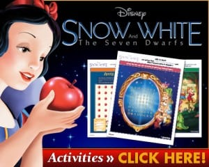 Snow White Printable Activity Sheets – Snow White And The Seven Dwarfs on Digital HD, DMA and Blu-Ray