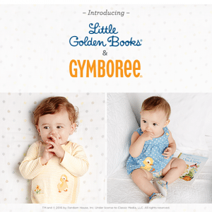 Little Golden Books Clothing Collection All-New from Gymboree