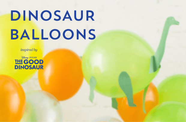 Dinosaur Balloons Craft