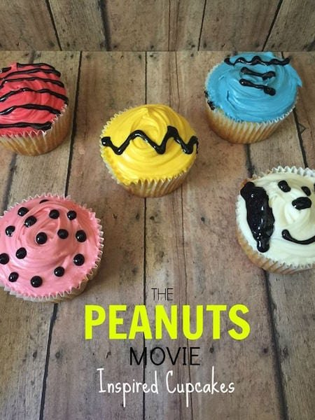 Peanuts Movie Inspired Cupcakes