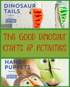 The Good Dinosaur Crafts and Activities