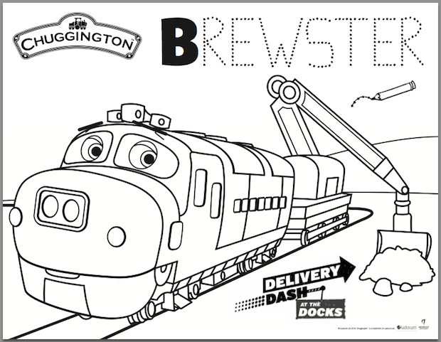 Chuggington Delivery Dash at the Docks Color Pages Reader