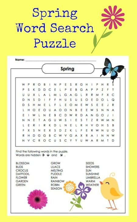 image relating to Spring Word Search Printable identify Spring Phrase Glance Puzzle Printable - Jinxy Small children