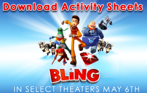 BLING Printable Activity Sheets – See It In Select Theaters This Weekend!