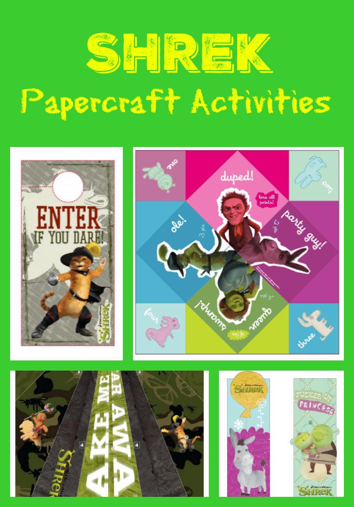 Shrek Paper Craft Activities
