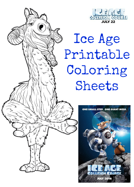 Ice Age Collision Course Printable Coloring Sheets Jinxy Kids