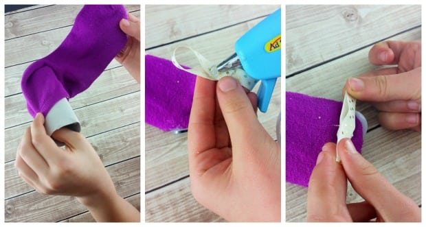 DIY Monster Sock Puppet Craft Process