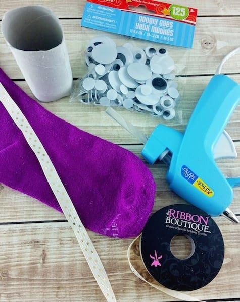 DIY Monster Sock Puppet Craft Supplies