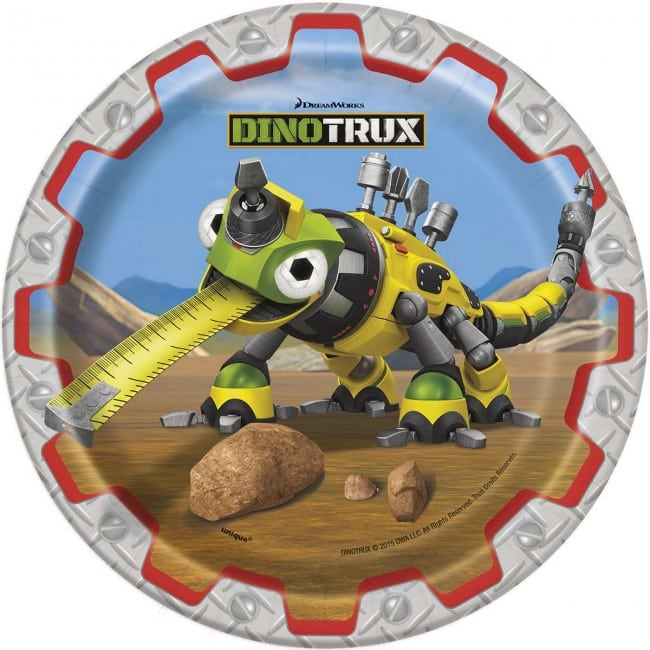 Dinotrux Paper Plates