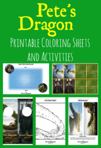 Pete's Dragon Printable Coloring Sheets and Activities